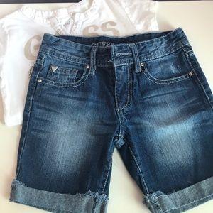 Guess girls jean shorts, size 8.
